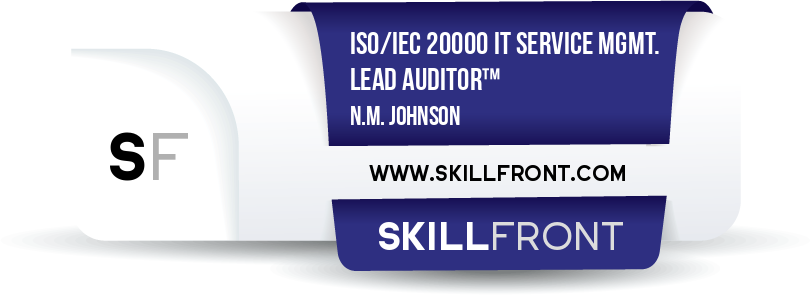 ISO/IEC 20000 IT Service Management Lead Auditor™