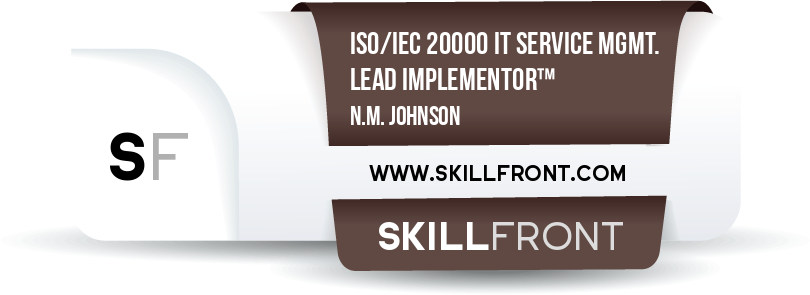ISO/IEC 20000 IT Service Management Lead Implementor™