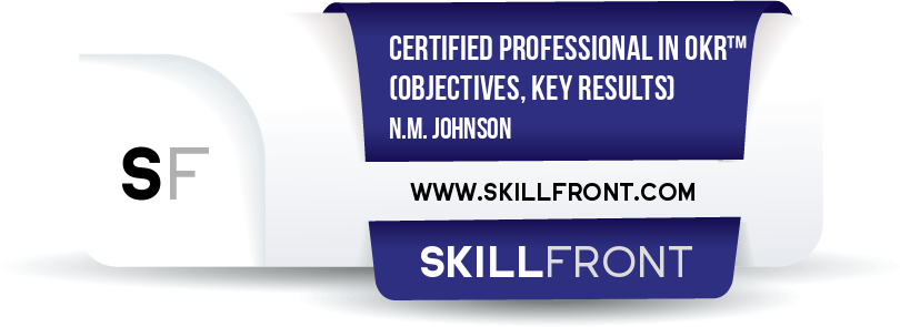 Certified Professional In OKR™ (Objectives & Key Results) (CPOKR™)
