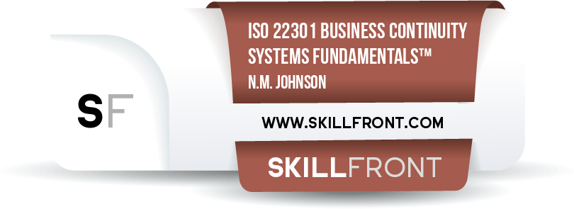 ISO 22301 Business Continuity Management Systems Fundamentals™