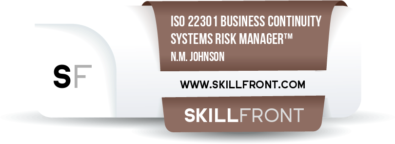 ISO 22301 Business Continuity Management Systems Risk Manager™