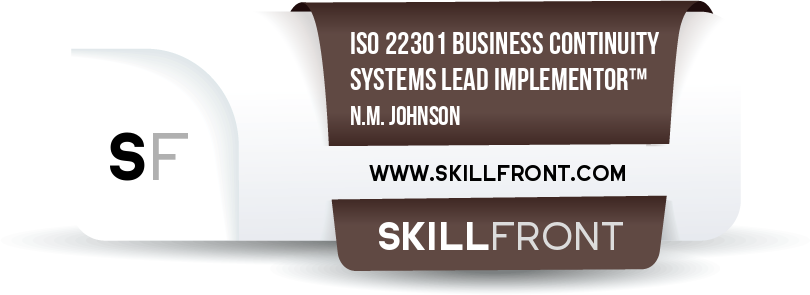 ISO 22301 Business Continuity Management Systems Lead Implementor™