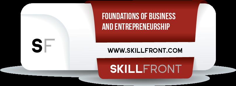 SkillFront Entrepreneur Program™: Foundations Of Business And Entrepreneurship™ Badge