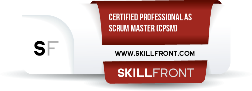 SkillFront Certified Professional As Scrum Master™ (CPSM™) Certification Shareable and Verifiable Digital Badge