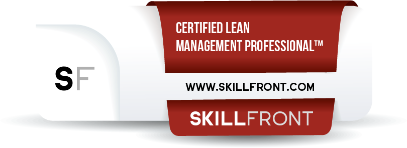SkillFront Certified Lean Management Professional™ (CLP-Management™) Certification Shareable and Verifiable Digital Badge