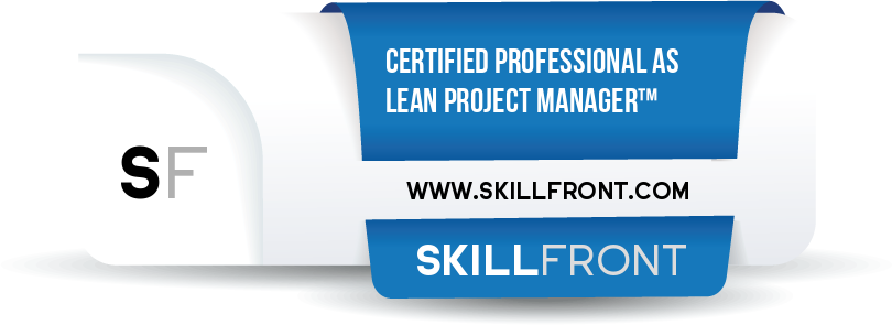 SkillFront Certified Professional As Lean Project Manager™ (CPLPM™) Certification Shareable and Verifiable Digital Badge