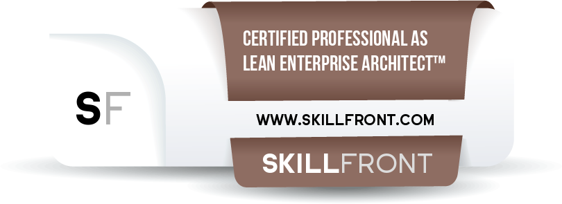 SkillFront Certified Professional As Lean Enterprise Architect™ (CPLEA™) Certification Shareable and Verifiable Digital Badge