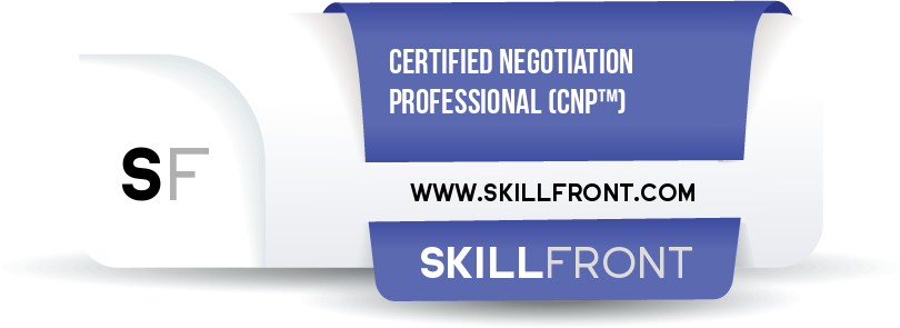 SkillFront Certified Negotiation Professional (CNP™) Certification Shareable and Verifiable Digital Badge