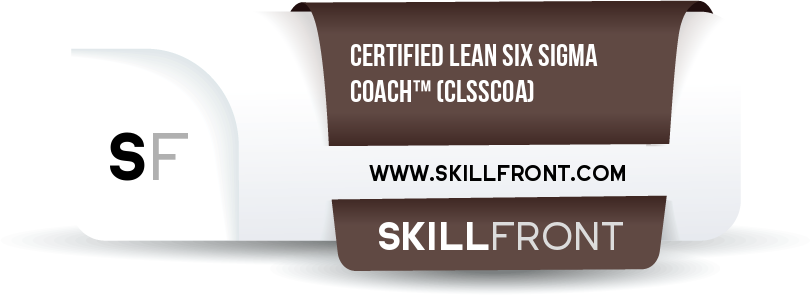 SkillFront Certified Lean Six Sigma Coach™ (CLSSCOA™) Certification Shareable and Verifiable Digital Badge